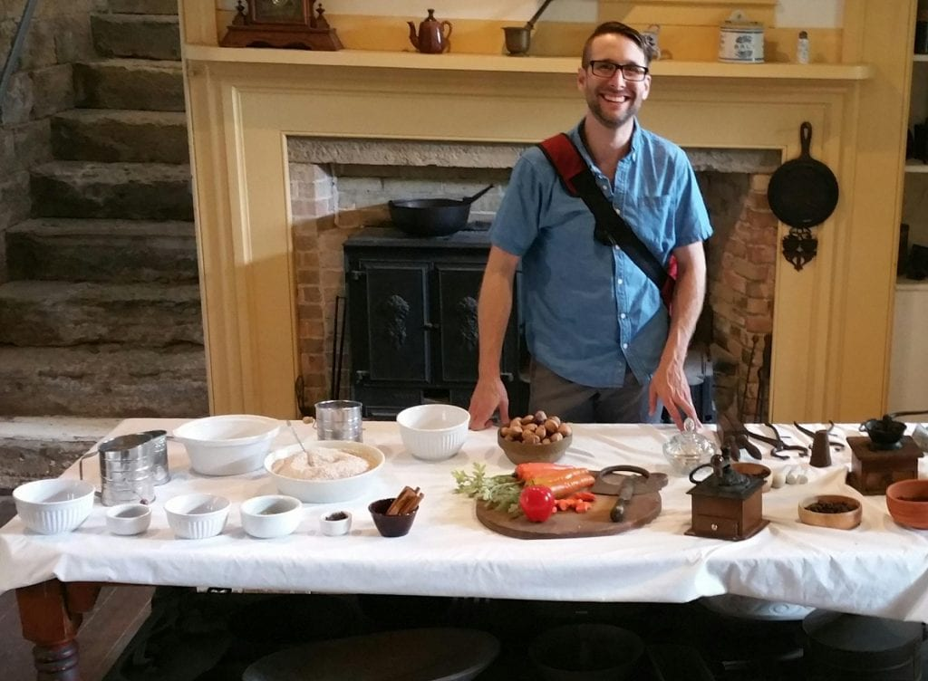 Collin tours the Lincoln Tallman House in Janesville.