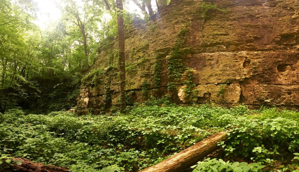 Devil's Staircase in Janesville is right along the Ice Age Trail.