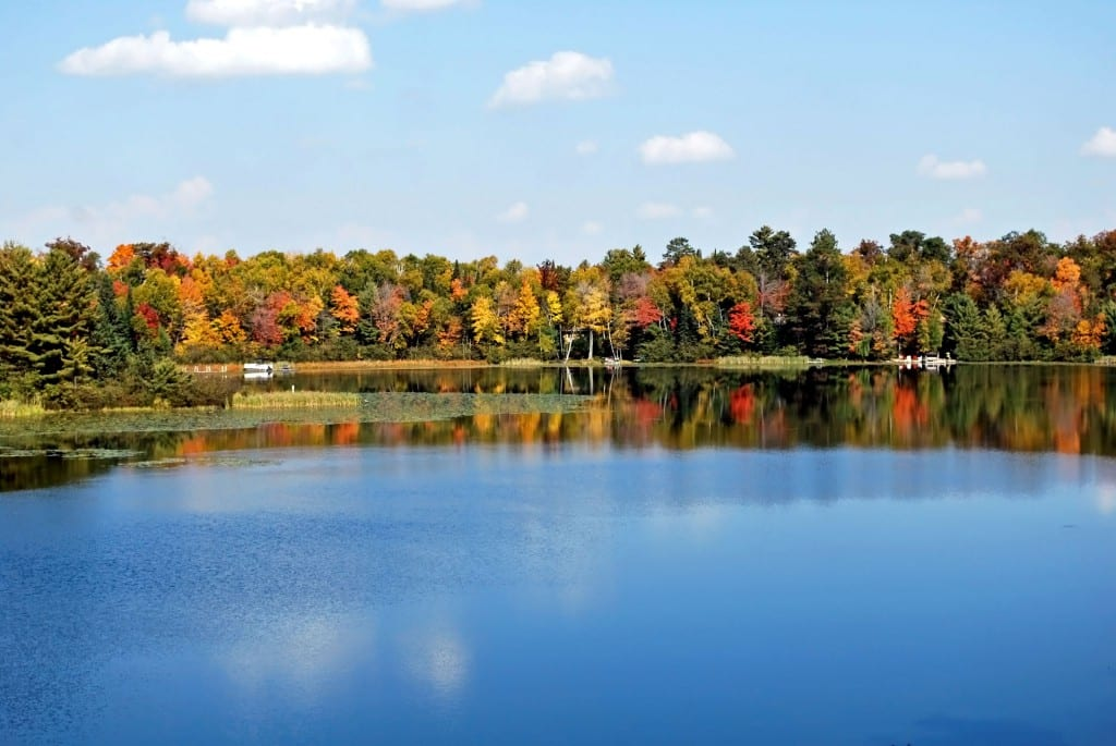 2014 Fall Colors on Fawn Lake. - St. Germain, WI, Vilas County