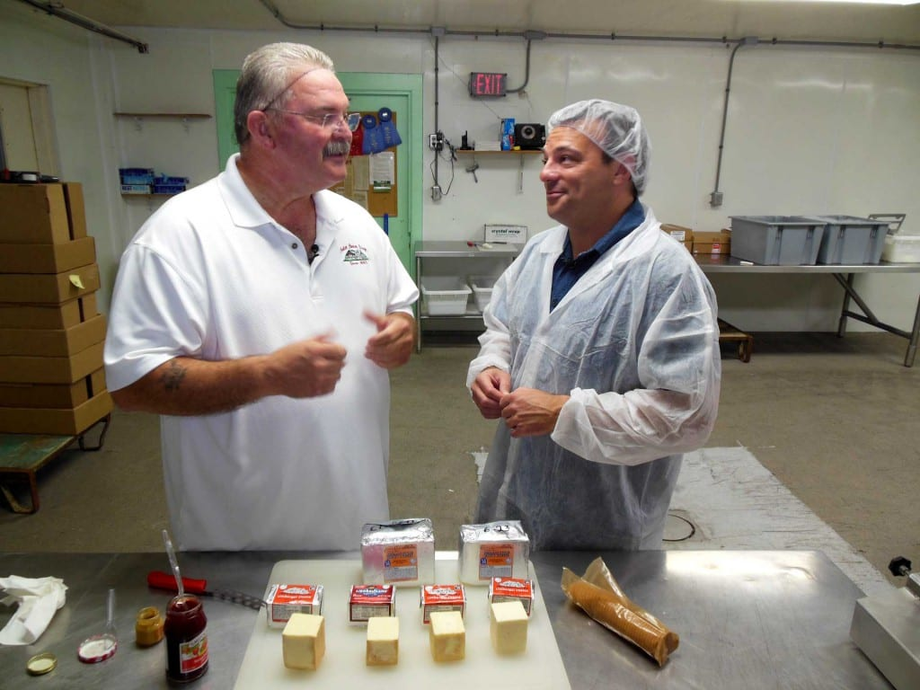 Eric Paulsen learns all about Limburger Cheese from Master Cheesemaker Myron Olson.