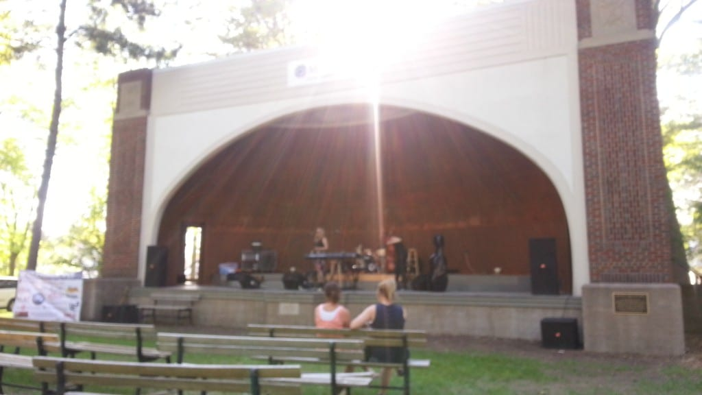 Music at the band shell during Dairyfest.