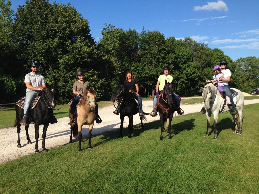 Mariah goes horseback-riding at High Cliff State Park.