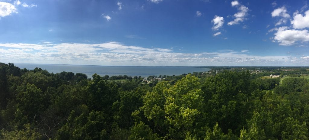 The view atop of High Cliff State Park in Sherwood is beautiful.