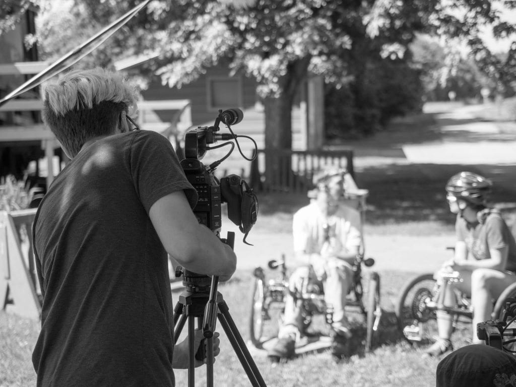Filming the Bike to Mary pilgrimage