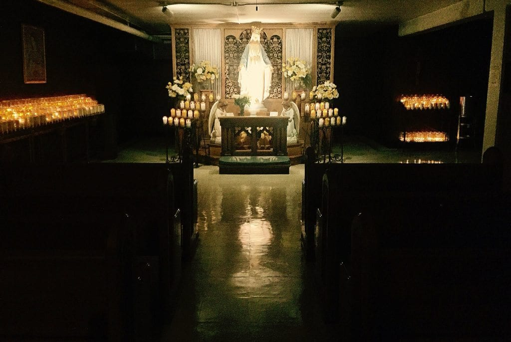 Lower Chapel at the National Shrine of Our Lady of Good Help