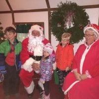 Santa at the Burlington Christmas Parade