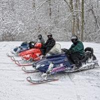Snowmobiling in Burlington