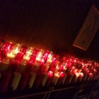 Candles at the National Shrine of Our Lady of Good Help