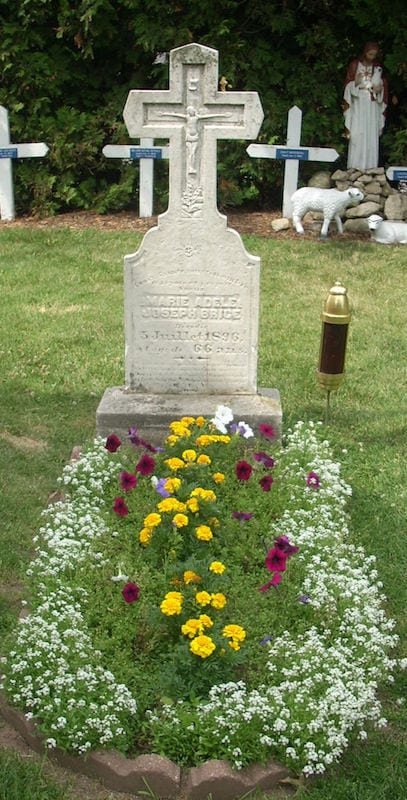 Grave of Adele Brise at the National Shrine of Our Lady of Good Help