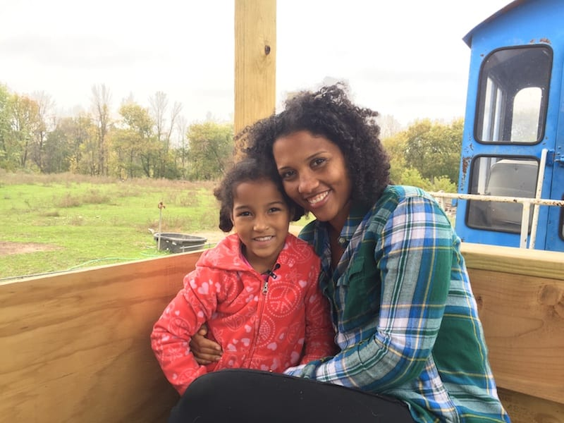 Marie and Hallie on the Train at Glacier Rock Farms