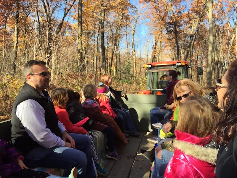 Eric on a Hayride at Mommsen's Pumpkin Patch