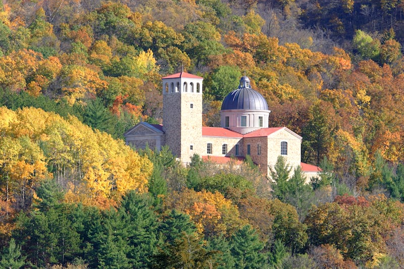 Fall Colors at the Shrine of Our Lady of Guadalupe
