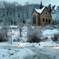 Votive Chapel in the Snow