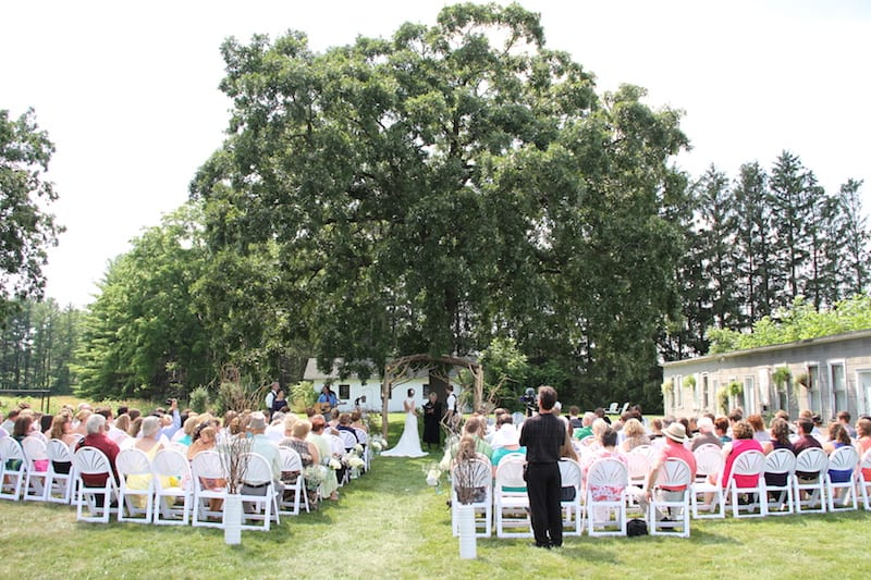 Outdoor Wedding Ceremony at Badger Farms