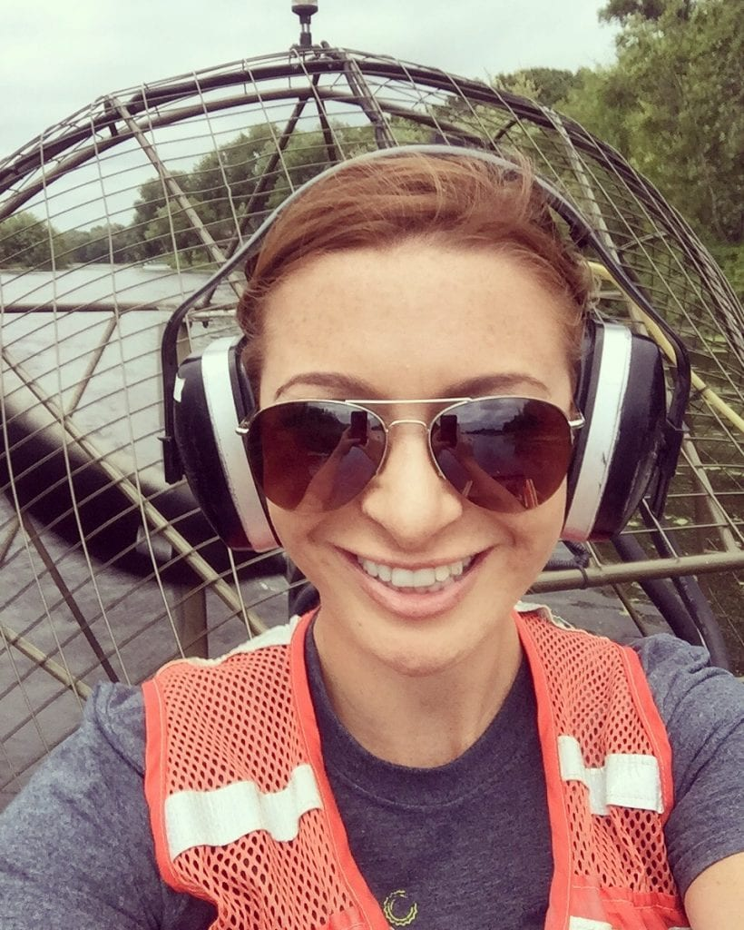 Mariah and the #DWcrew jumped aboard an airboat while exploring the water trails of La Crosse!
