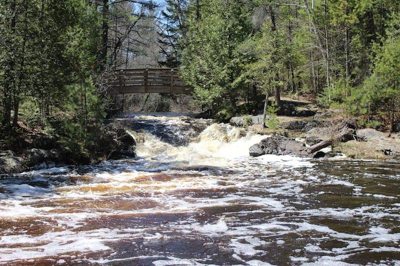 Veteran's Falls in Marinette County
