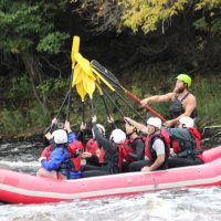 Whitewater Rafting Down the Menominee River
