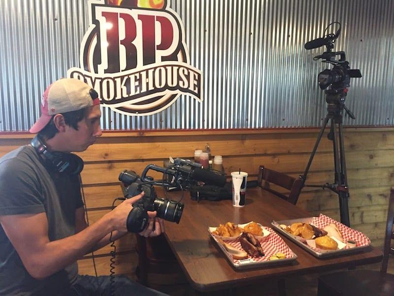 Filming at BP Smokehouse
