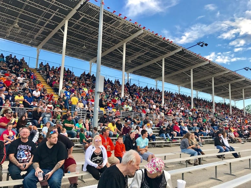 Crowd at Tomah Tractor Pull