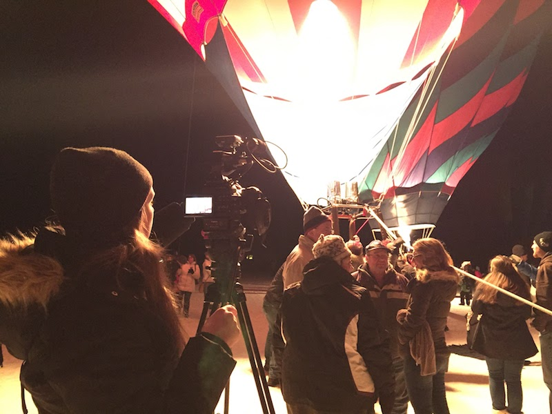 Filming the Moon Glow