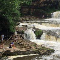 Visitors Enjoy Willow Falls