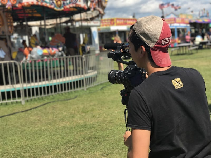 Filming at the Barron County Fair