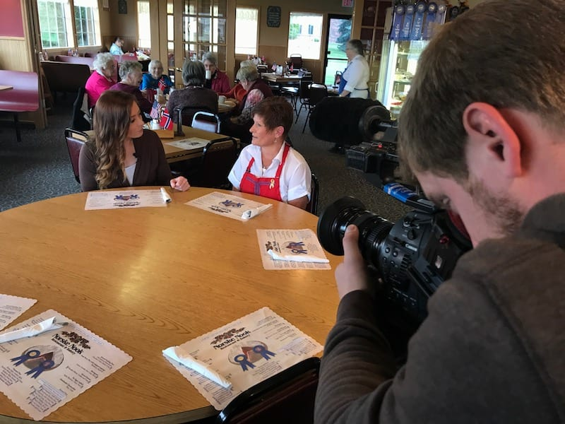 Filming at Norske Nook