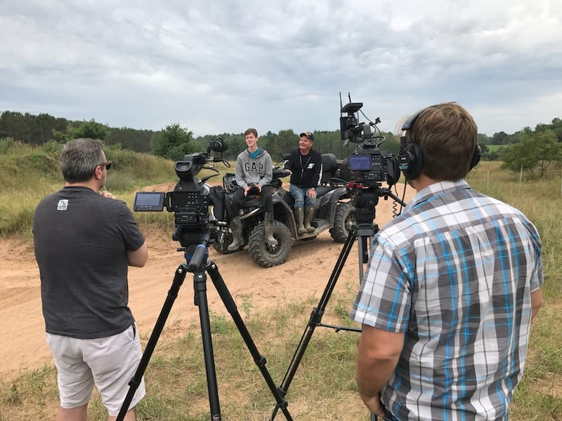 Filming an ATV Park