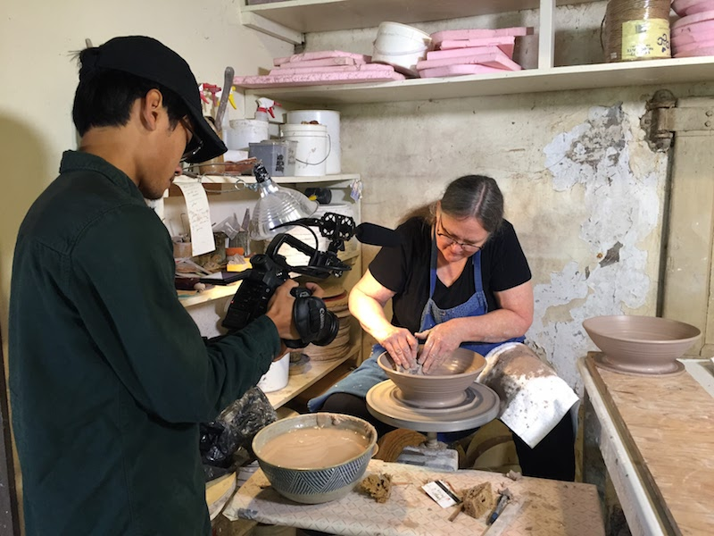 Filming at Brewery Pottery