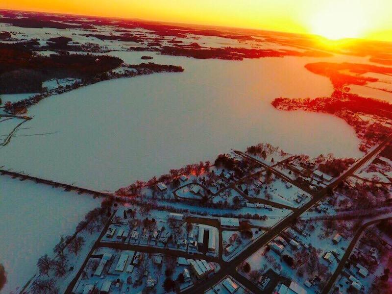 Winter Sunrise in Merrimac