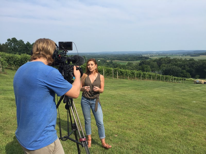 Filming at Baraboo Bluff Winery