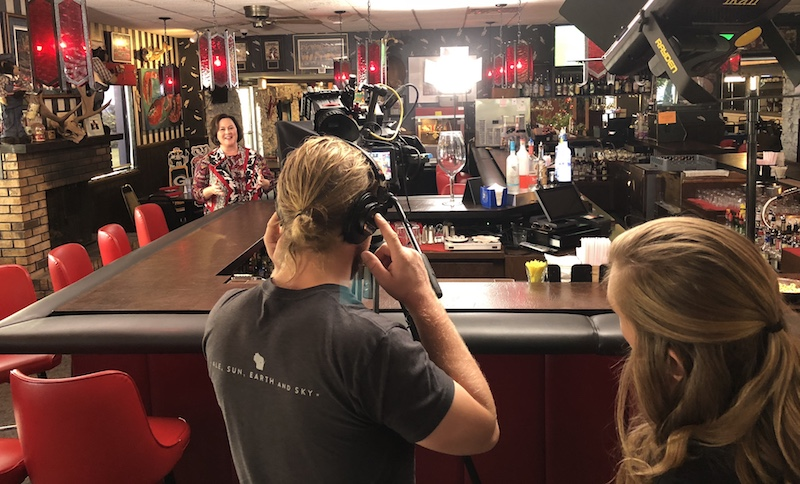 Filming the Show Open