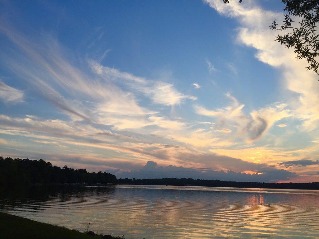 Sunset on Irogami Lake