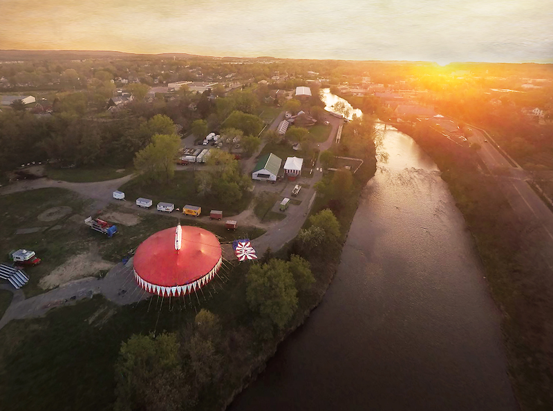 Circus World & Baraboo River by Bill Johnsen
