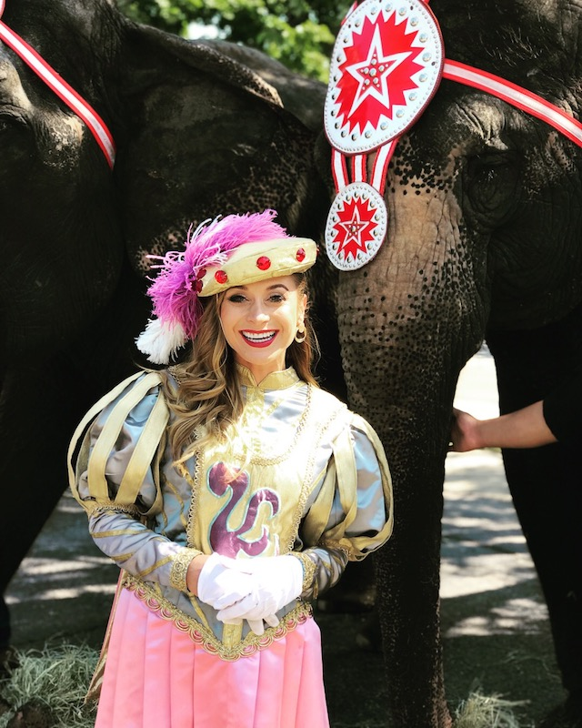 Mariah with an Elephant