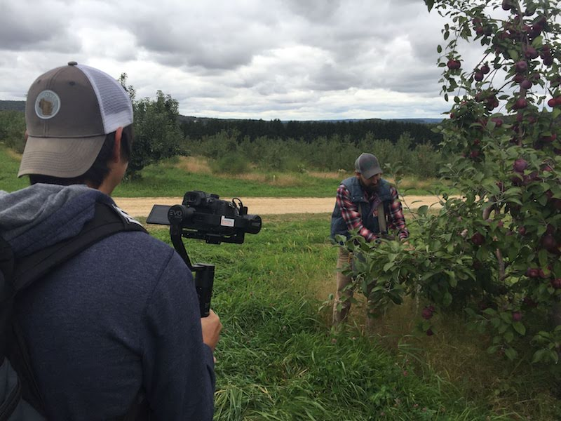 Filming at Ski Hi Fruit Farm