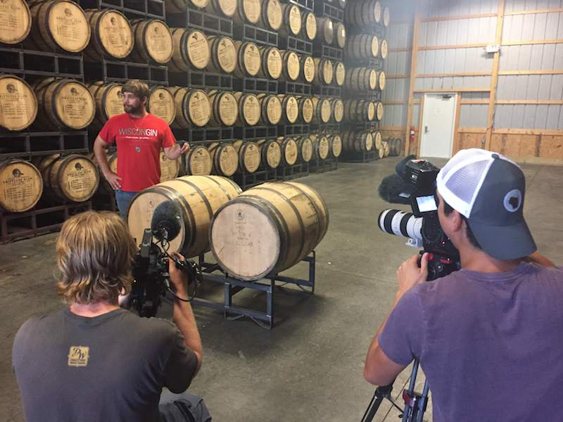 Filming at Driftless Glen Distillery