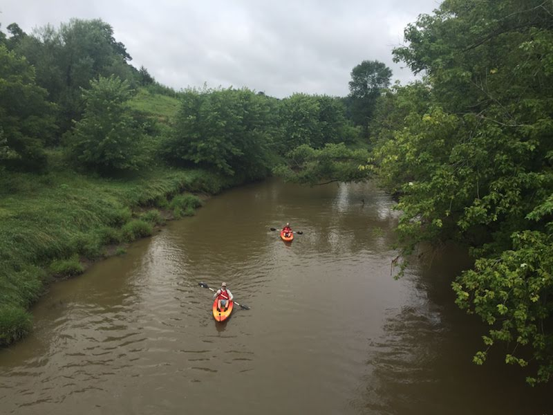 Kayaking the Baraboo River