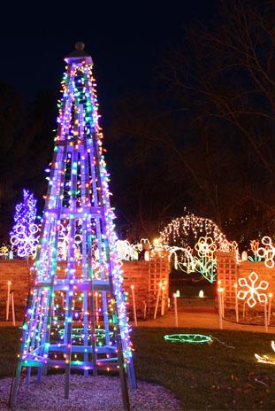 Holiday Light Show 1 - Holiday Light Show Rotary Botanical Gardens December 22