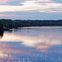 Sunset over Prairie du Sac