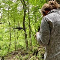 Flying the Drone at Parfrey's Glen
