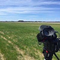 Filming at Volk Field Air National Guard Base