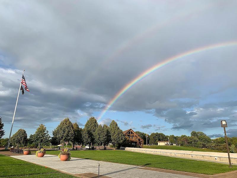 Rainbow over The Highground