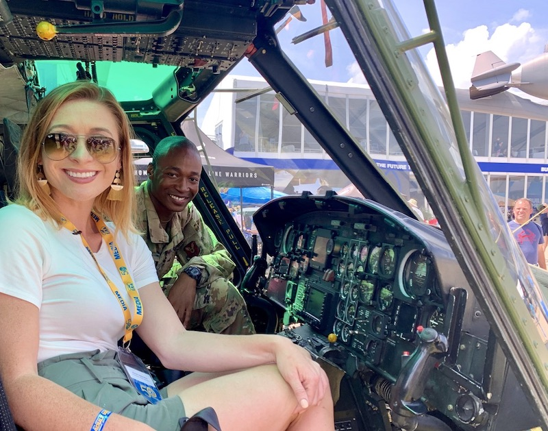 Mariah Interviews Helicopter Pilot