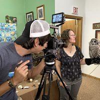 Filming Peek-A-Boo the Owl